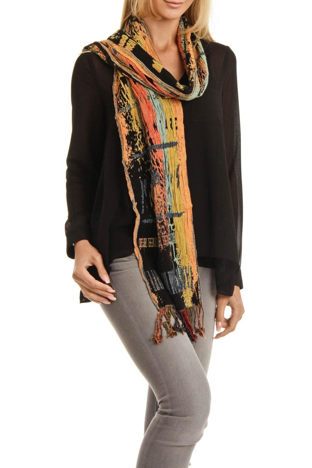 Picasso Silk  Scarf - Front Full Image