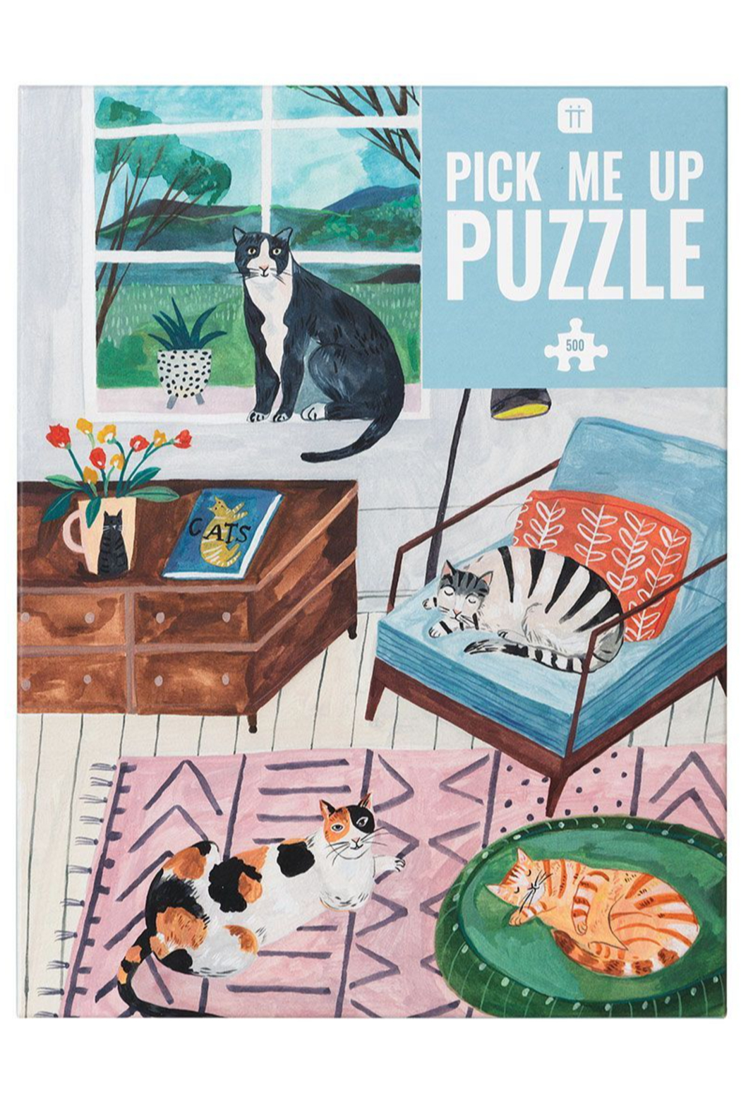 Talking Tables  Pick Me Up Puzzle - Cat - Front Cropped Image