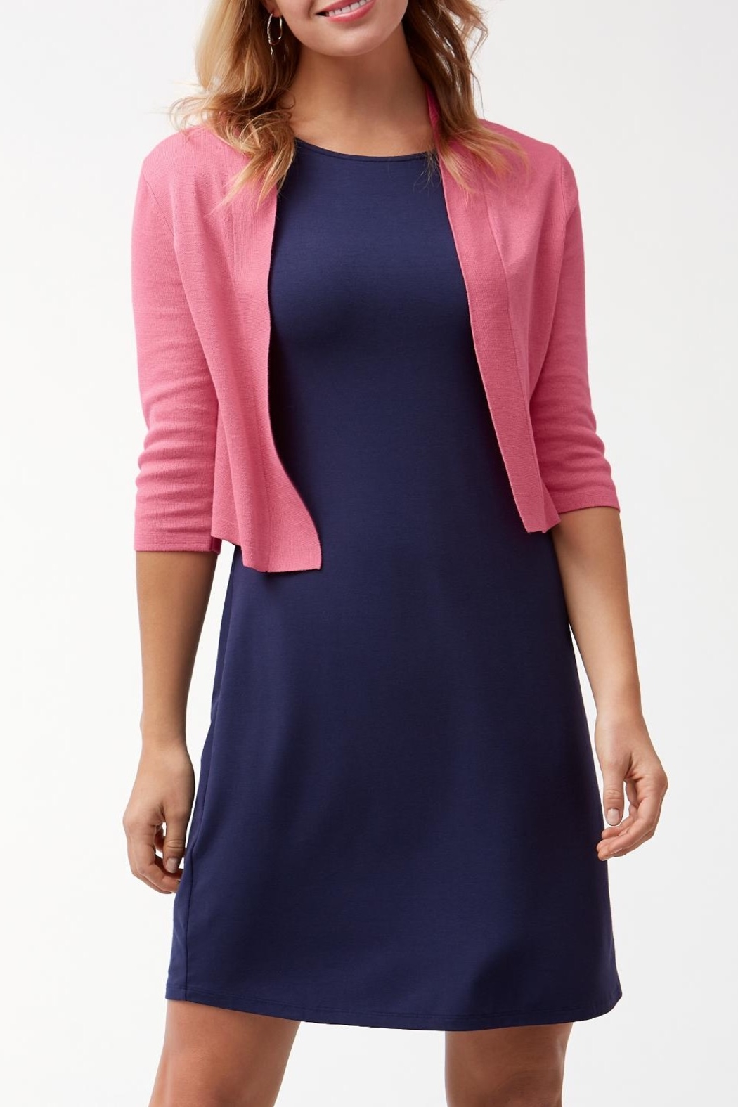 Tommy Bahama Pickford Cropped Dress Cardigan - Front Cropped Image