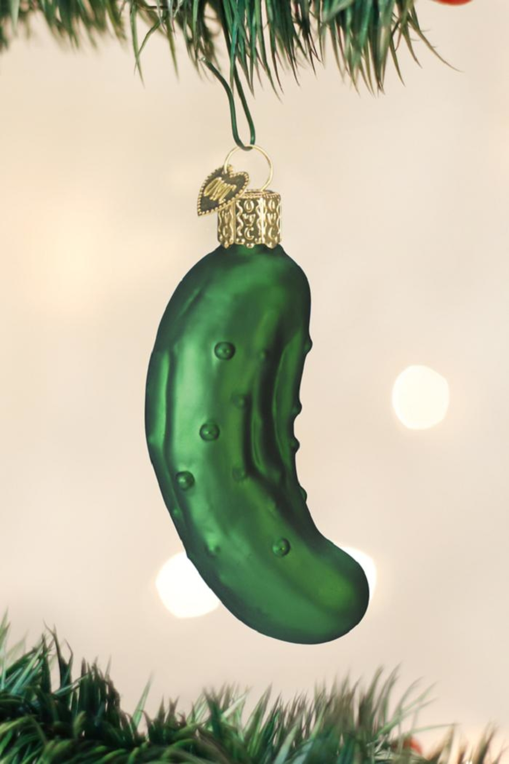 Old World Christmas Pickle Ornament - Front Full Image