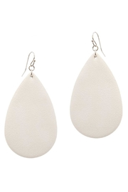 Pickles & Olive's Leather Teardrop Earrings - Product Mini Image