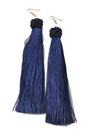 Pickles & Olive's Navy Tassel Earrings - Product Mini Image