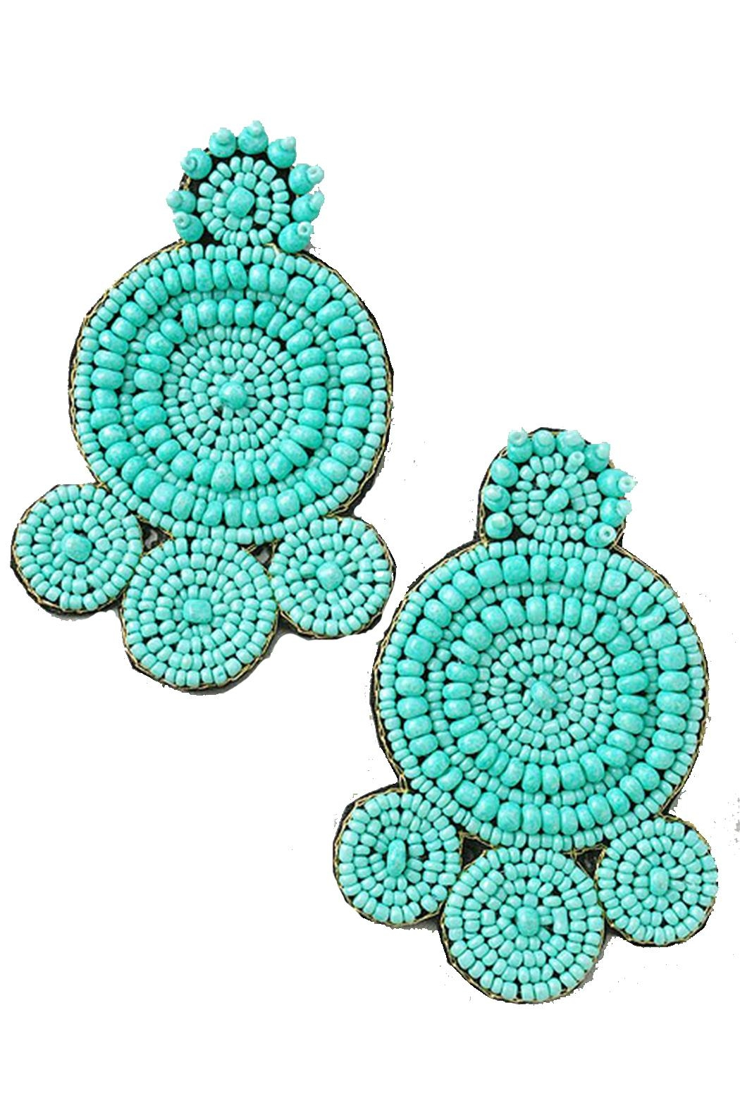 Pickles & Olive's Turquoise Beaded Earrings - Main Image
