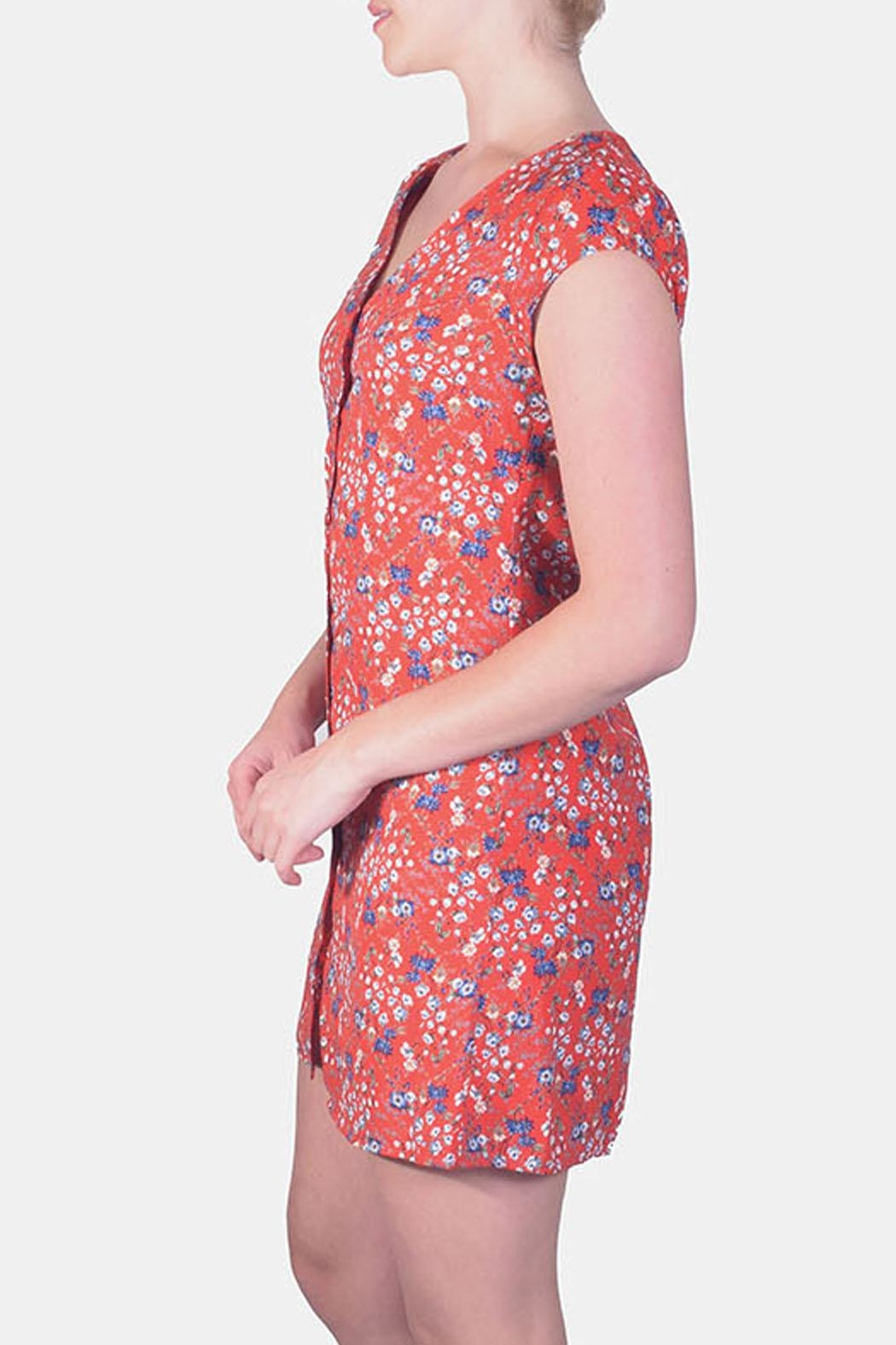 rokoko Picnic Floral Button-Down - Front Full Image