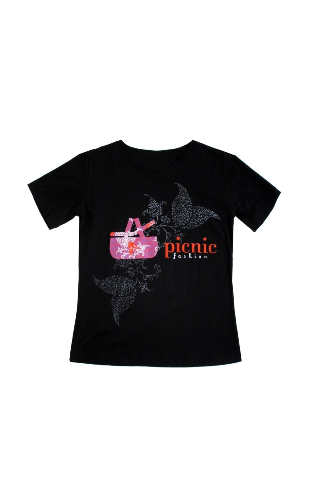 Soft As A Grape Picnic Tee Shirt - Front Cropped Image