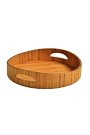 Picnic at Ascot  Bamboo Serving Tray - Front cropped