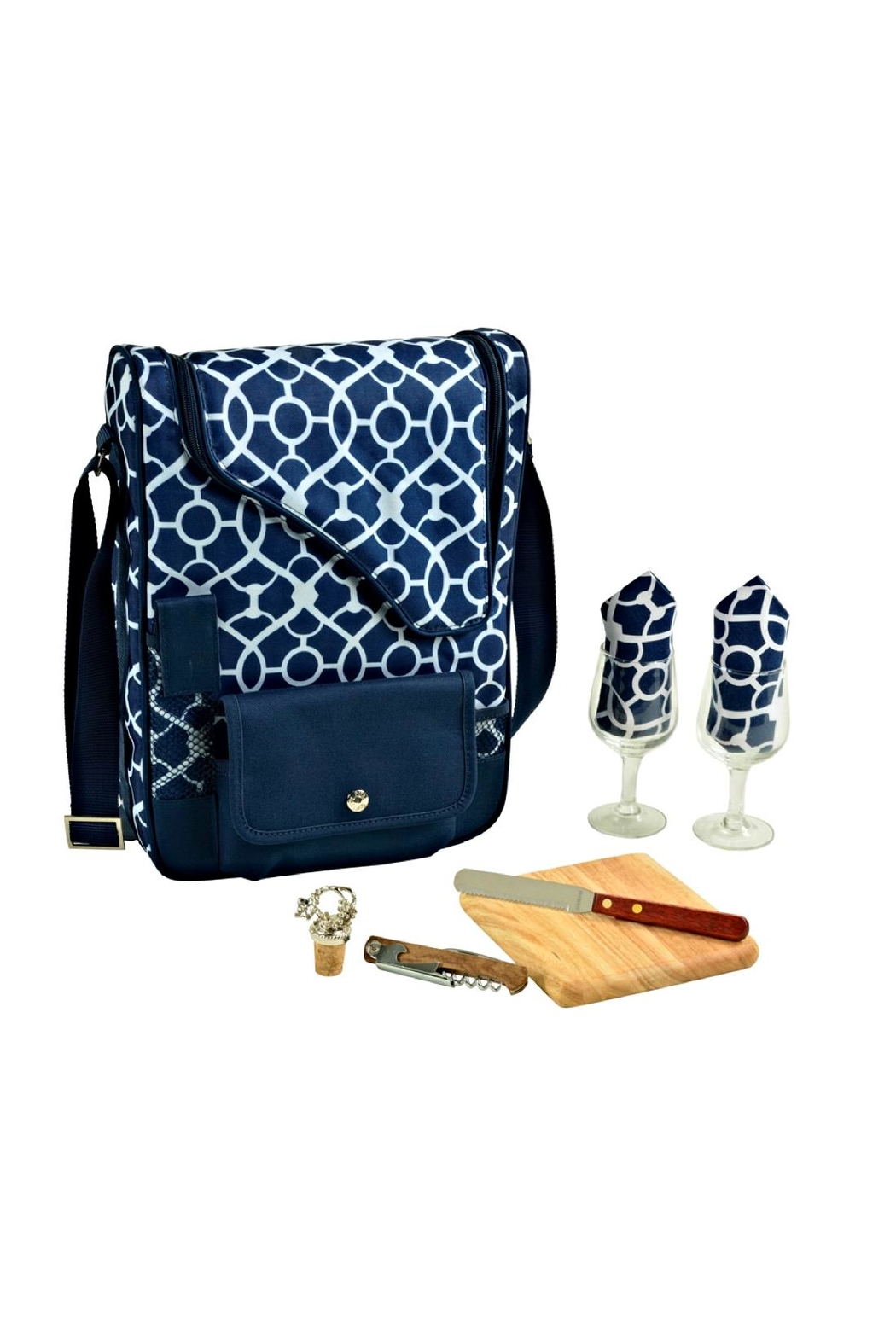 Picnic at Ascot  Insulated Wine Tote - Side Cropped Image