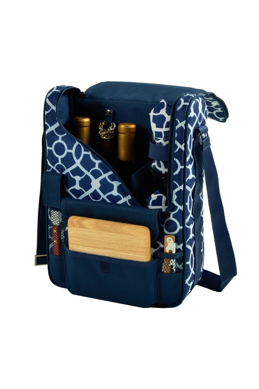 Picnic at Ascot  Insulated Wine Tote - Front Cropped Image