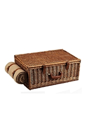 Picnic at Ascot  Wicker Picnic Basket Set - Front full body