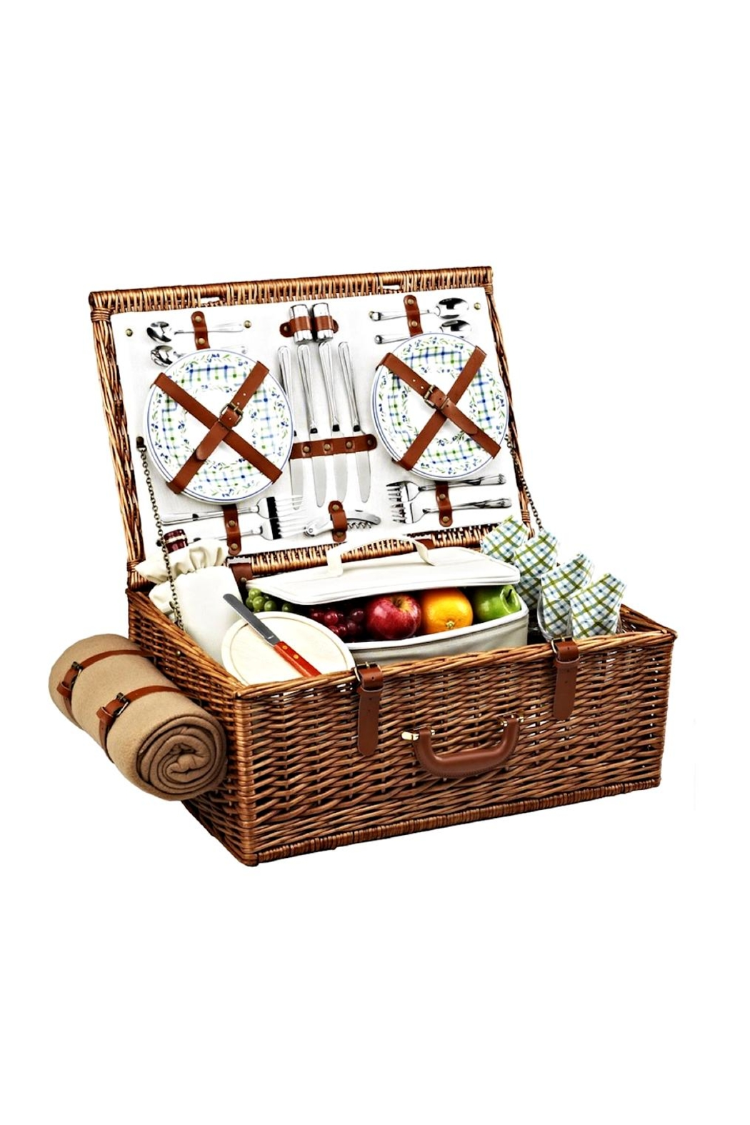 Picnic at Ascot  Wicker Picnic Basket Set - Front Cropped Image