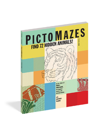 Workman Publishing PictoMazes Find 72 Hidden Animals! - Front cropped