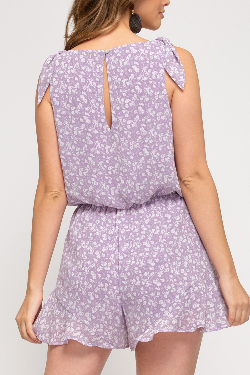 She and Sky Picture Perfect romper - Front Full Image