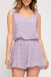 She and Sky Picture Perfect romper - Front cropped