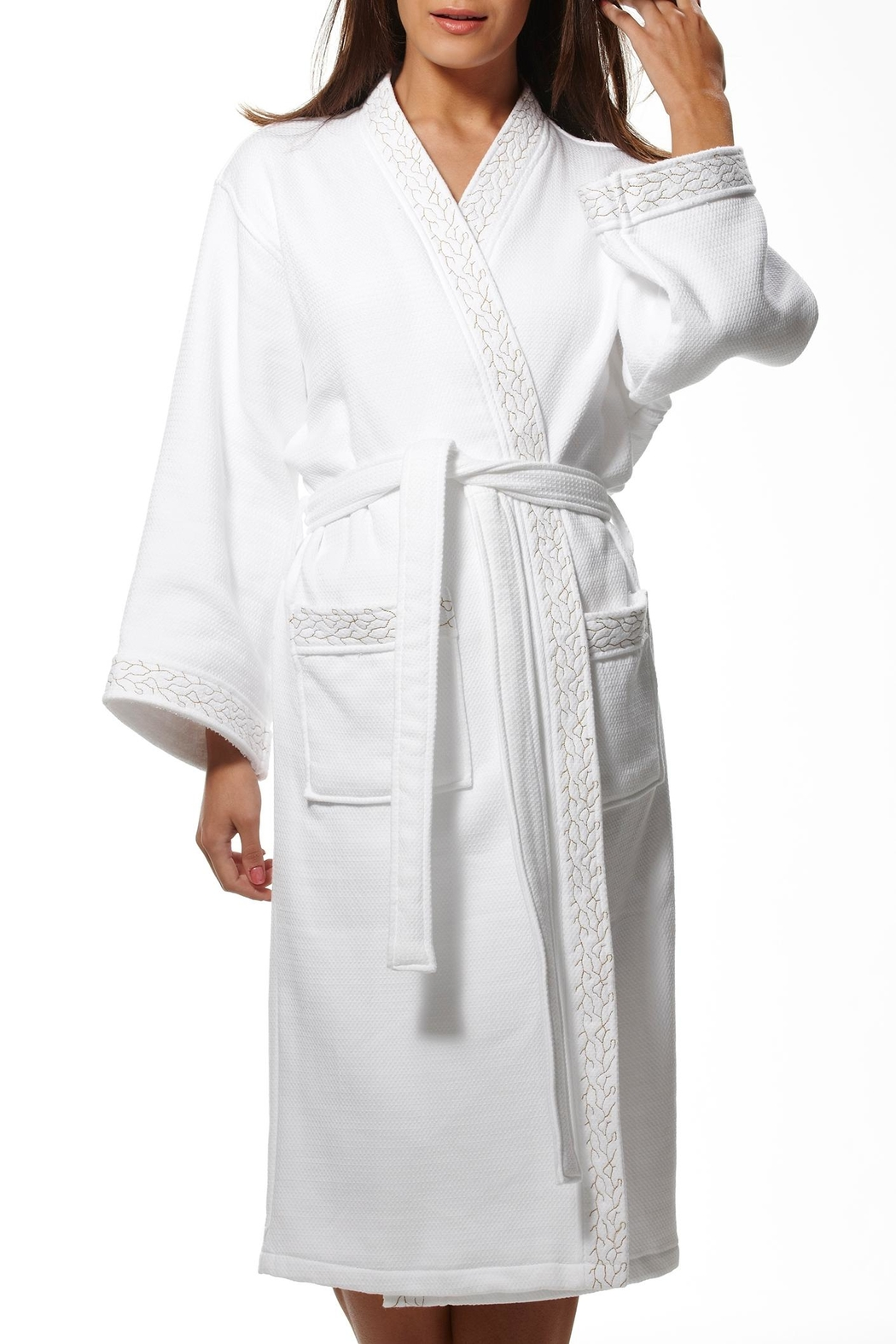 Pierre Cardin Cotton Waffle Robe - Main Image