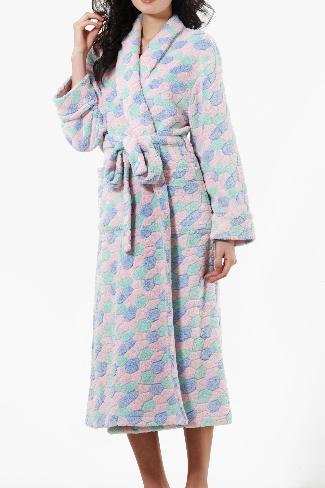 Pierre Cardin Fleece Shawl Robe - Main Image