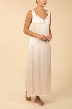 Shoptiques Product: Silk Feel Satin Annette Ankle Length Nightgown