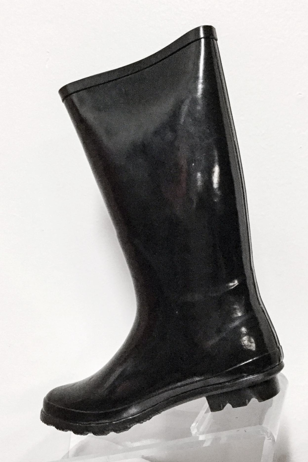 Pierre Dumas Buckled Rain Boots - Front Cropped Image