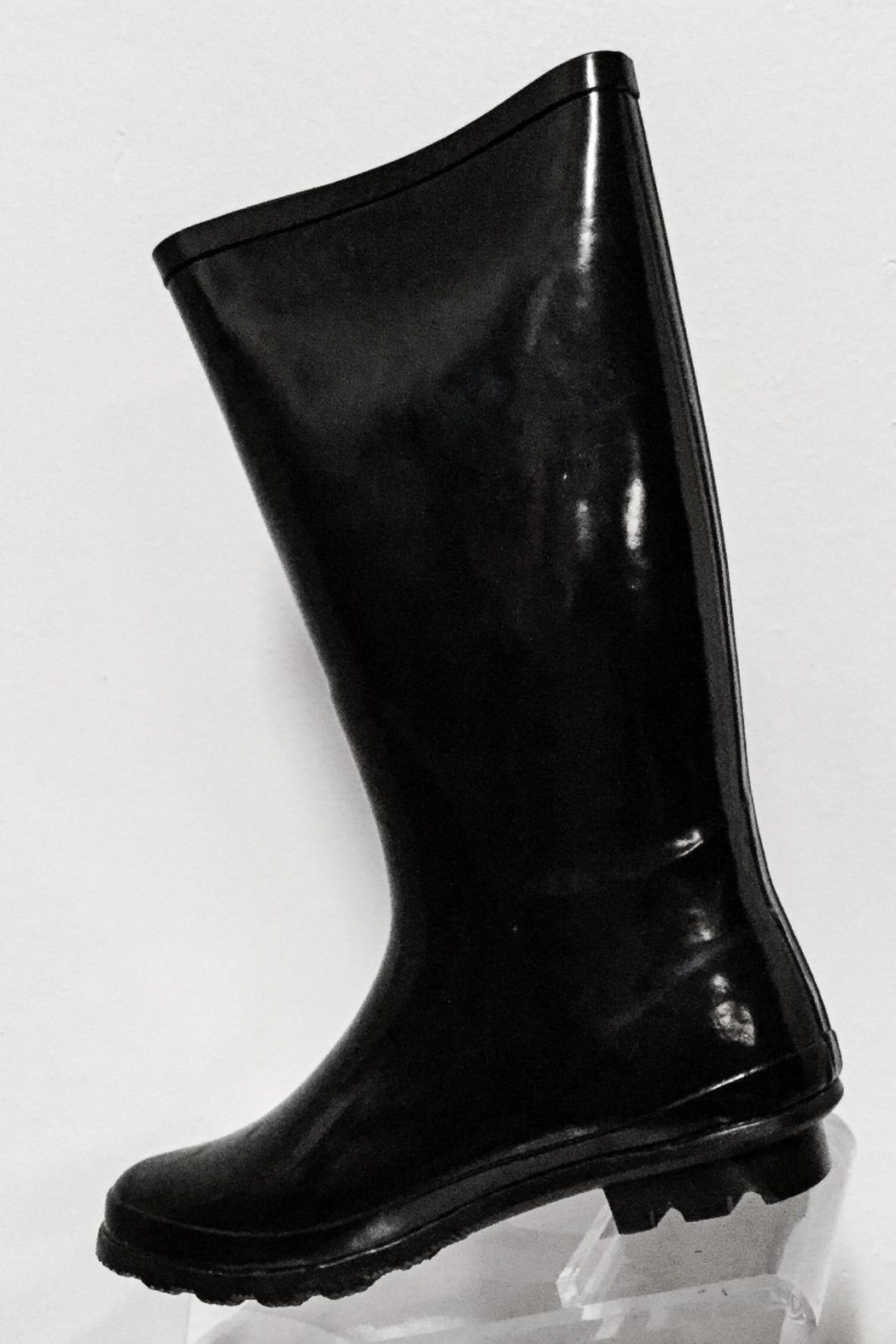 Pierre Dumas Buckled Rain Boots - Side Cropped Image