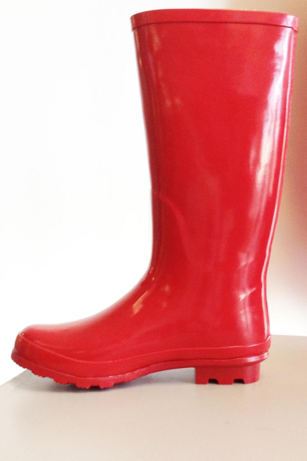 Pierre Dumas Buckled Rain Boots - Front Full Image