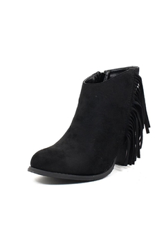 Pierre Dumas Fringe Suede Booties - Product List Image