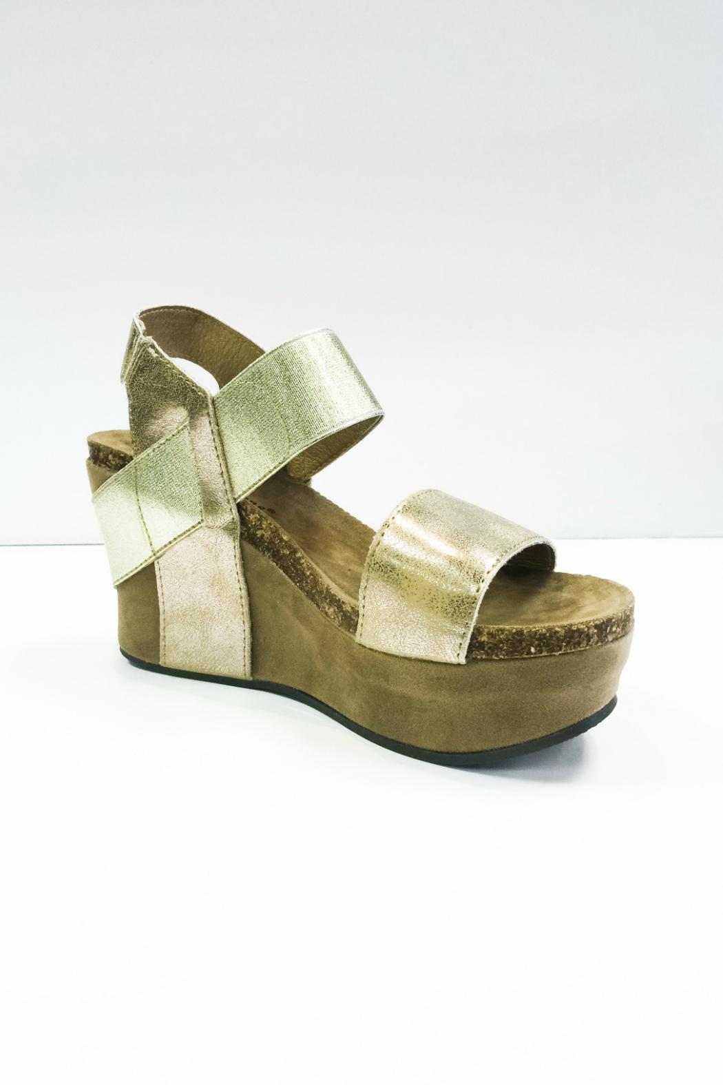 bf079cf79221 Pierre Dumas Gold Wedges from Alabama by Bohemian Bliss — Shoptiques