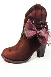 Pierre Dumas Lowcut Cowgirl Booties - Front cropped