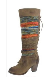 Pierre Dumas Multicolored Heeled Boots - Product Mini Image