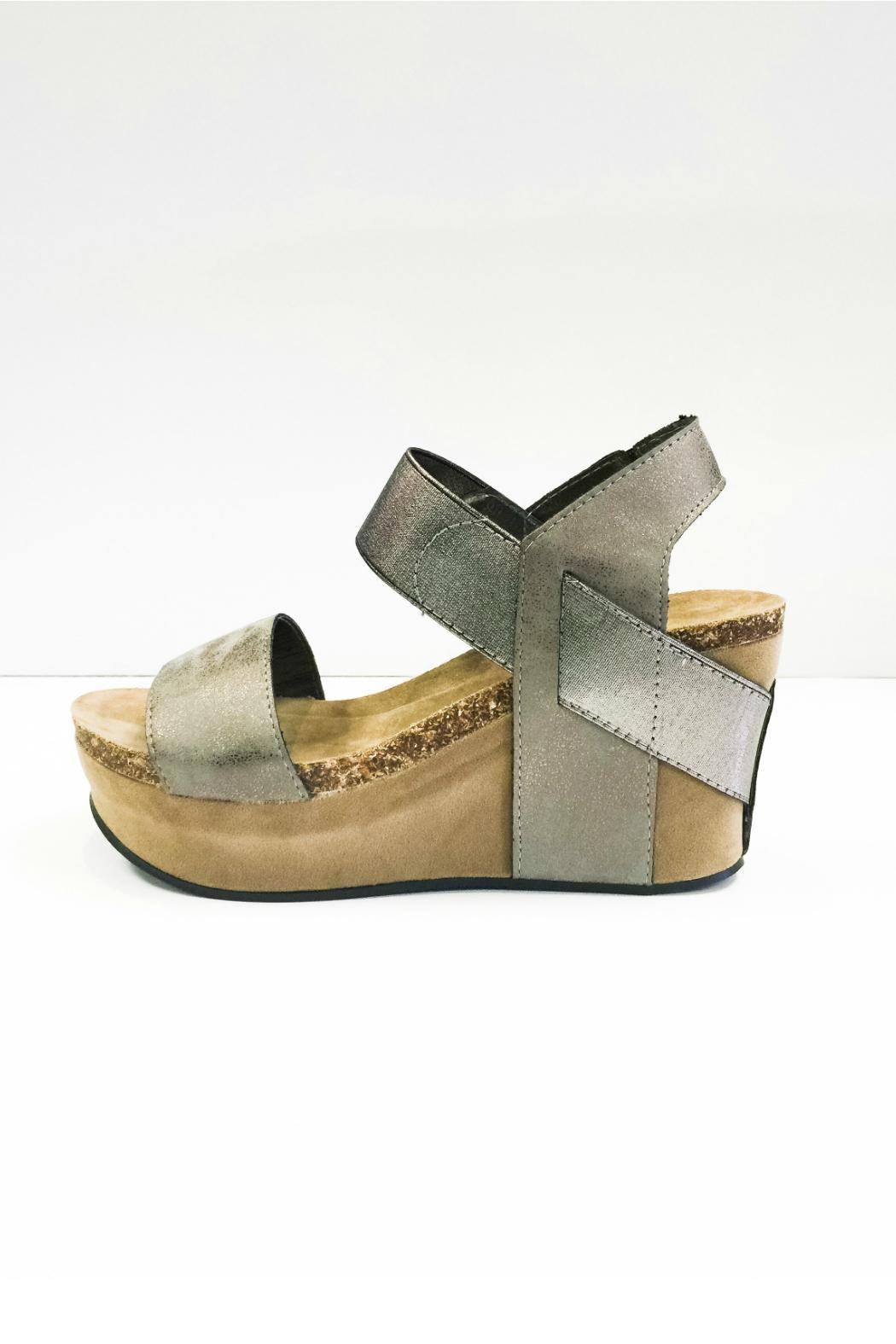 08c81e78b027 Pierre Dumas Pewter Wedges from Alabama by Bohemian Bliss — Shoptiques