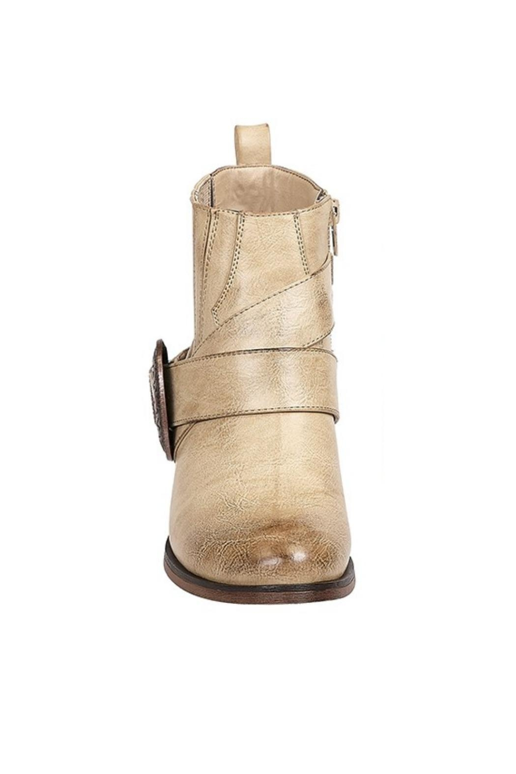Pierre Dumas Tabby Western Bootie - Front Full Image