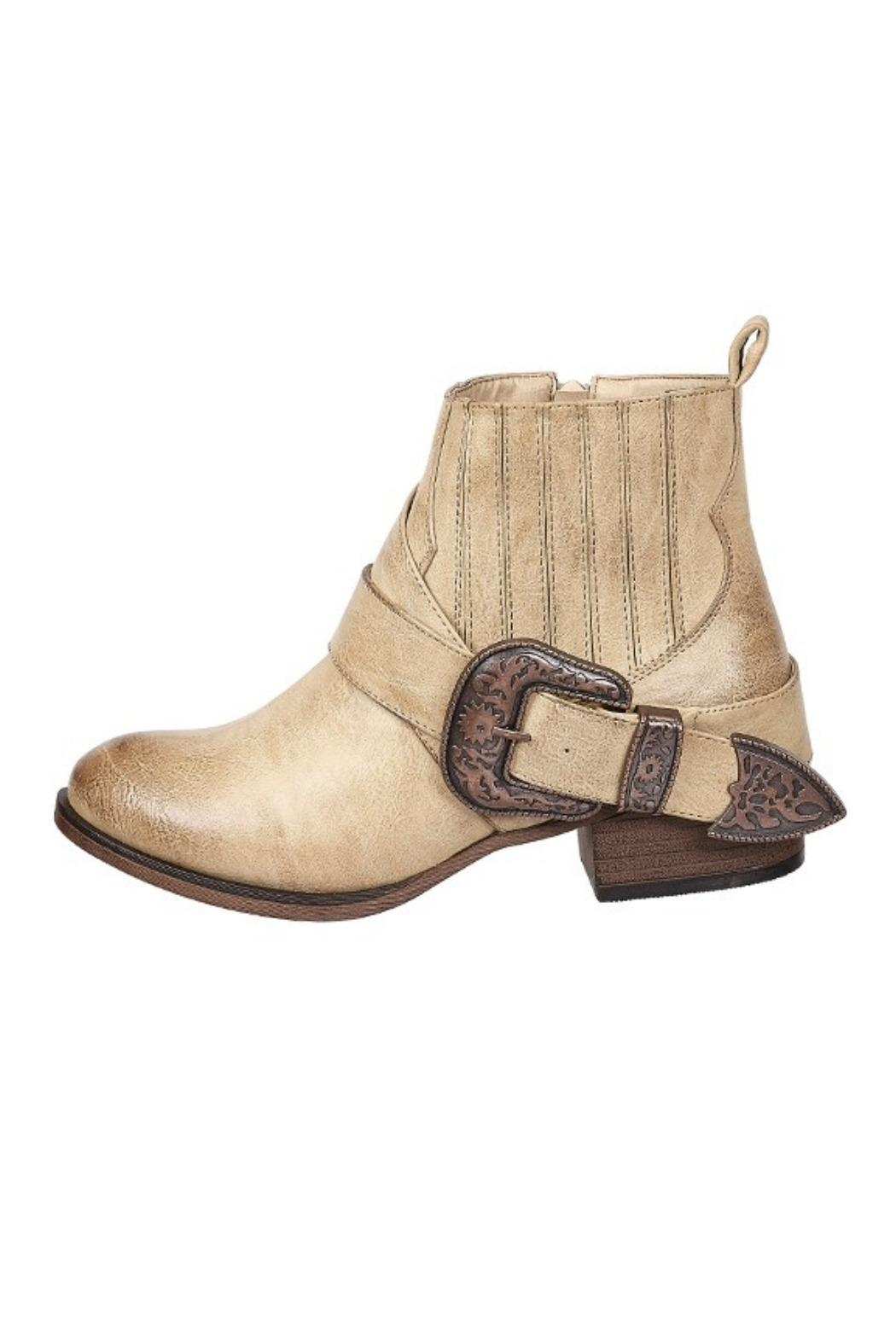 Pierre Dumas Tabby Western Bootie - Front Cropped Image