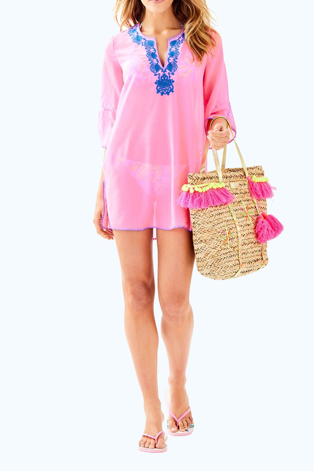 Lilly Pulitzer Piet Cover Up - Back Cropped Image