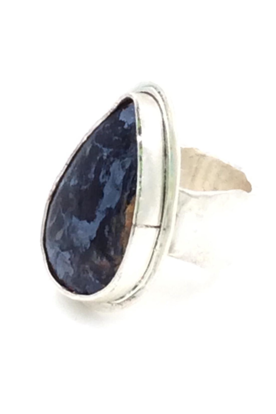 rings mans ring oval pietersite in sterling silver