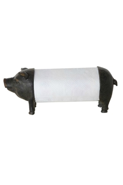 Creative Co-Op Pig Paper-Towel Holder - Product List Image