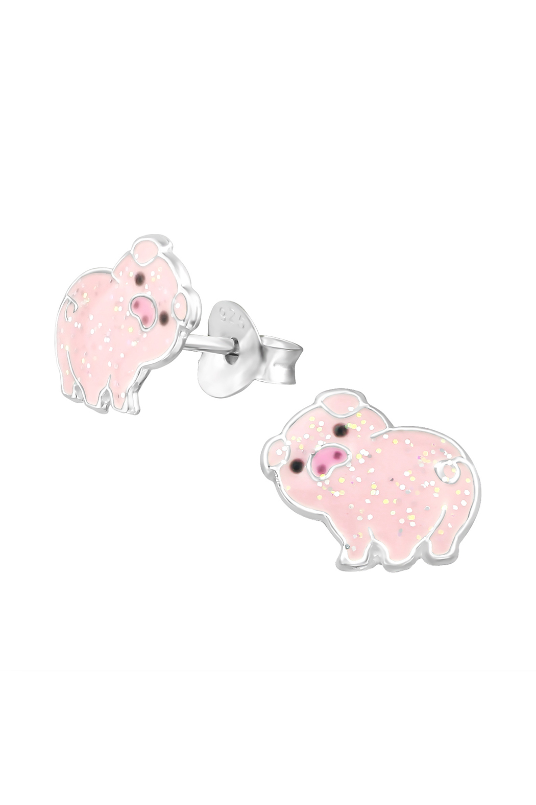 Silver Jewels Pig Silver Stud Earrings - Main Image