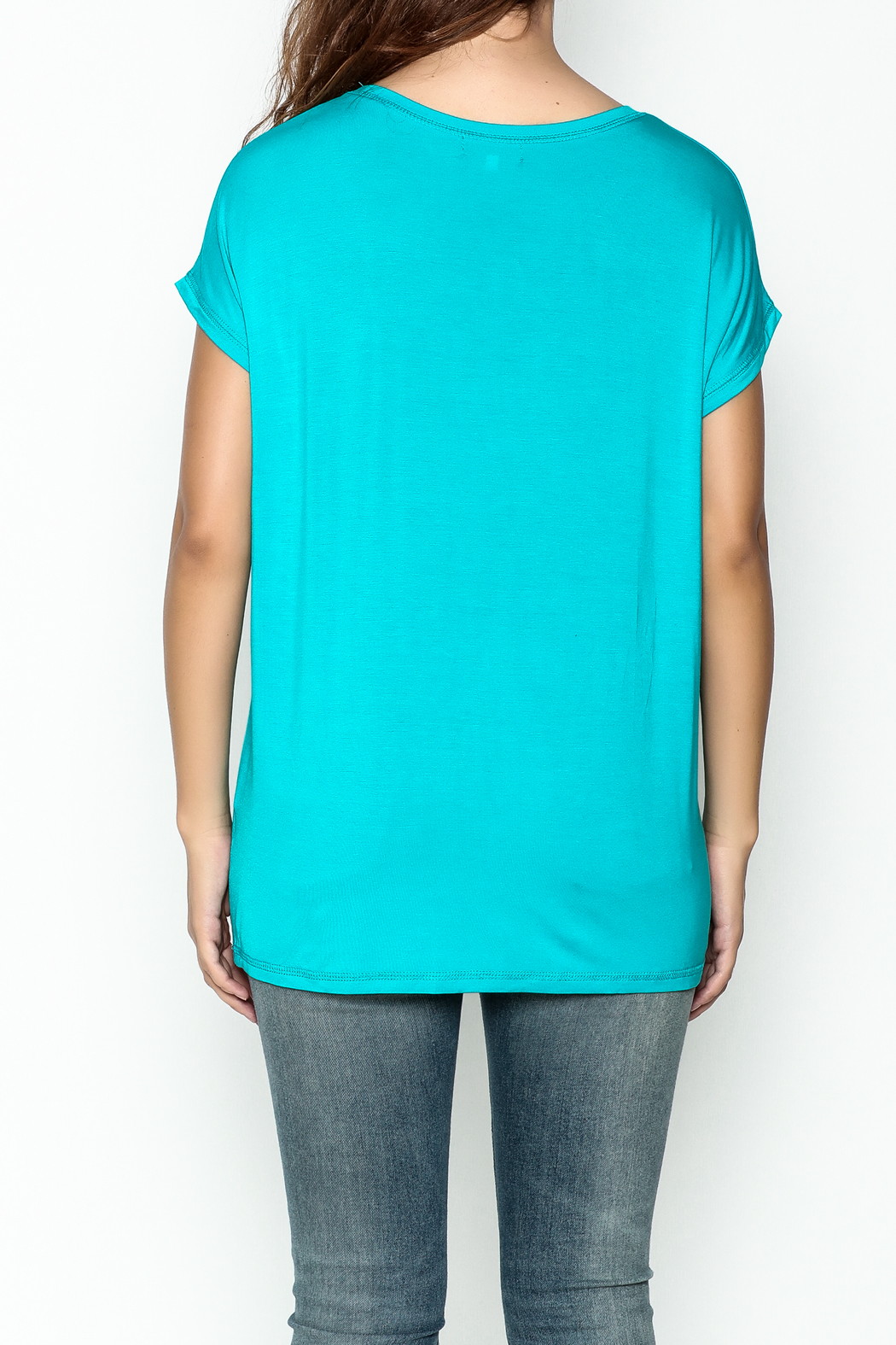 Piko  Bright Blue Top - Back Cropped Image