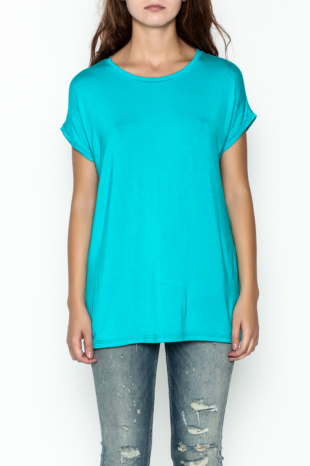 Piko  Bright Blue Top - Front Full Image