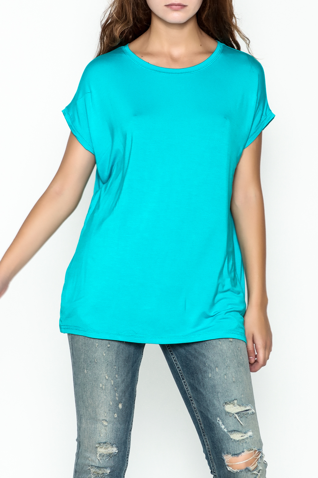Piko  Bright Blue Top - Front Cropped Image