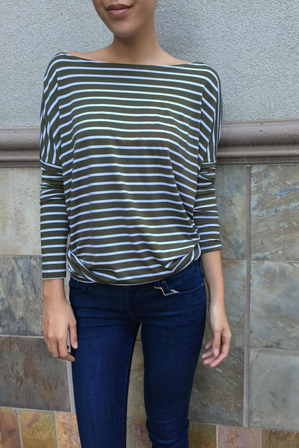 Piko  Striped Long Sleeves - Front Cropped Image