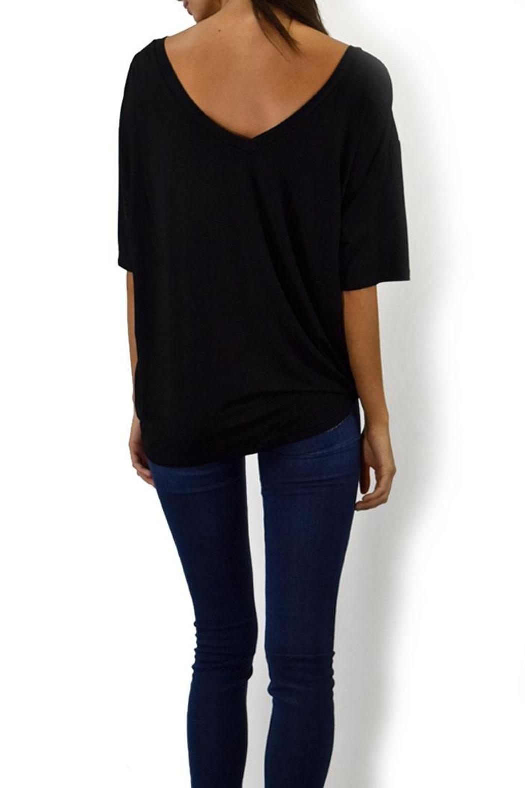 Piko  Women's V-Neck Tee - Side Cropped Image