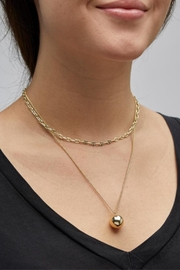 Pilgrim Earth Gold Necklace - Side cropped