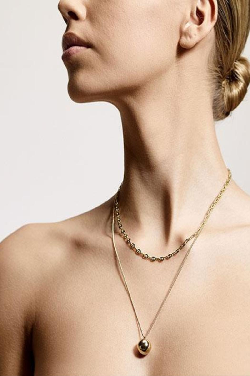 Pilgrim Earth Gold Necklace - Front Full Image