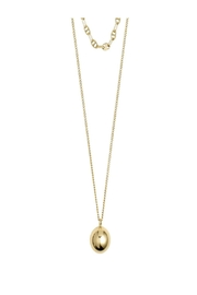Pilgrim Earth Gold Necklace - Front cropped