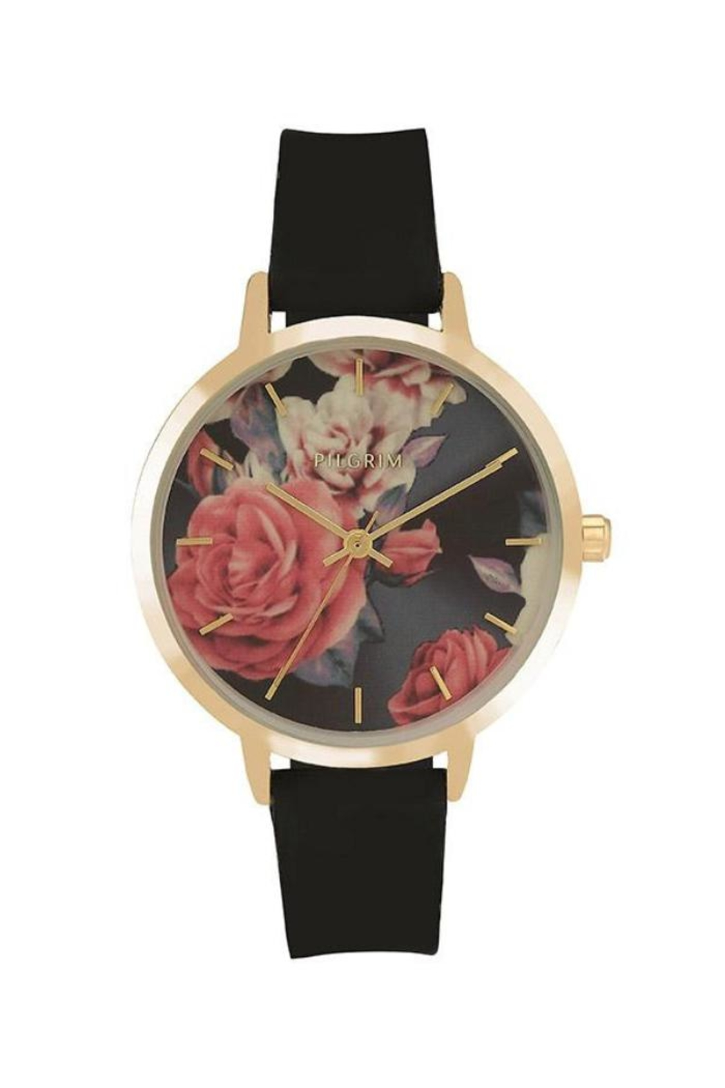 Pilgrim Floral Gold-Plated Watch - Main Image