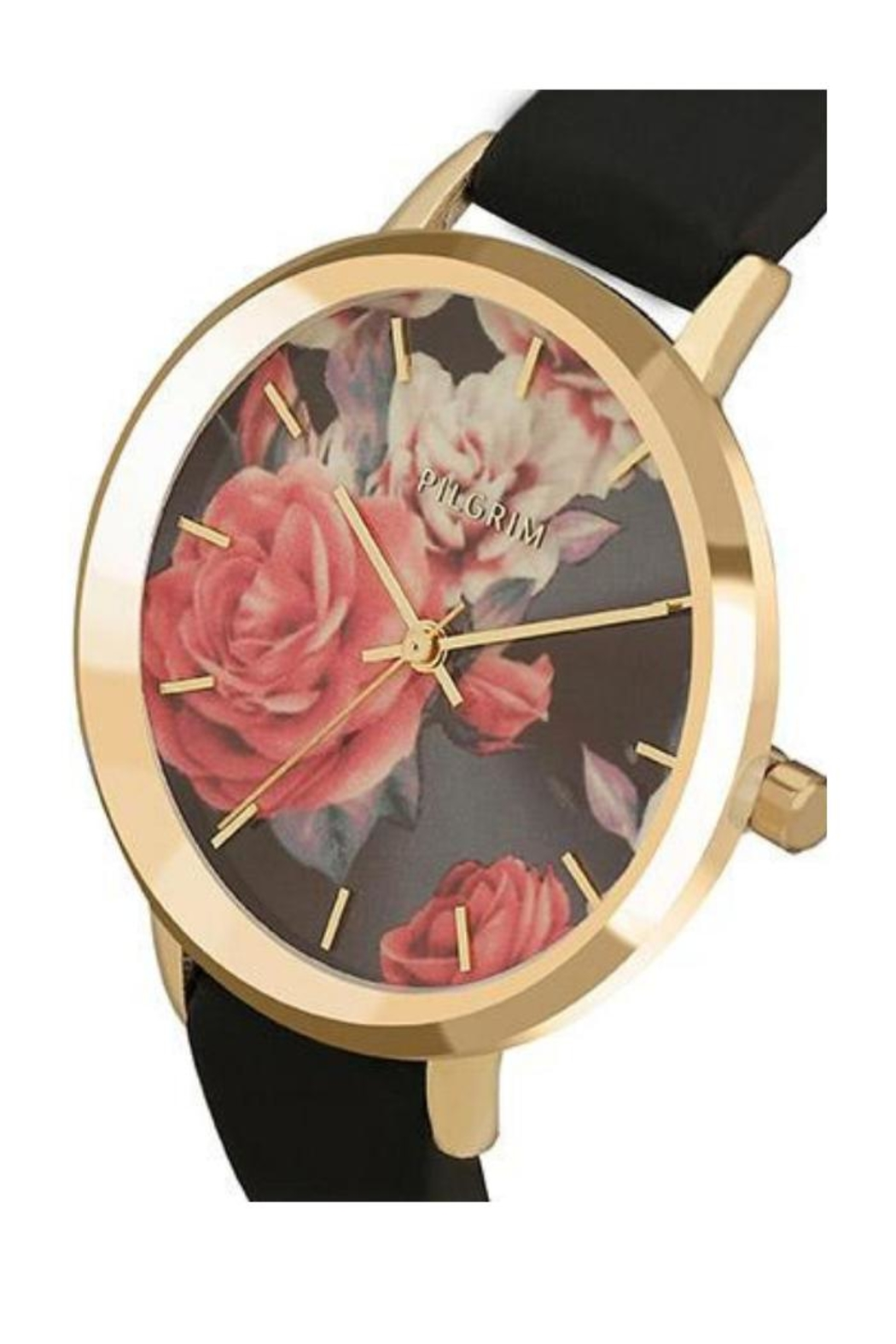 Pilgrim Floral Gold-Plated Watch - Front Full Image