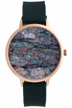 Shoptiques Product: Forest-Green Patterned Watch