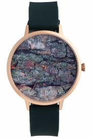 Pilgrim Forest-Green Patterned Watch - Product Mini Image