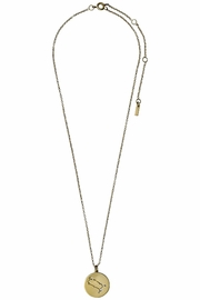 Pilgrim Gemini Gold Star-Sign-Necklace - Front cropped