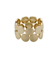Pilgrim Gold-Plated Circular Bracelet - Product Mini Image