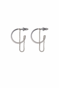 Pilgrim Hoops-With-Chain Earrings - Product List Image