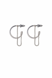 Pilgrim Hoops-With-Chain Earrings - Product Mini Image